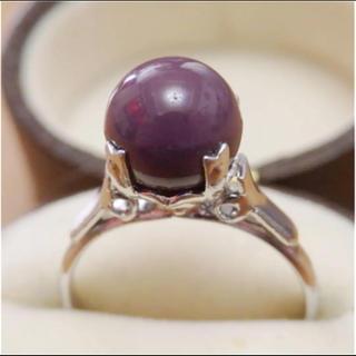 即購入OK♡V004昭和レトロ紫のヴィンテージリング指輪(リング(指輪))