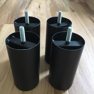 ムジルシリョウヒン(MUJI (無印良品))の無印 ベッド スチール製 脚12cm M8 黒色(脚付きマットレスベッド)