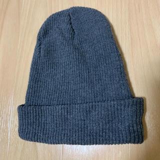 ケービーエフ(KBF)の【KBF】コットン ニット帽 ビーニー チャコールグレー(ニット帽/ビーニー)