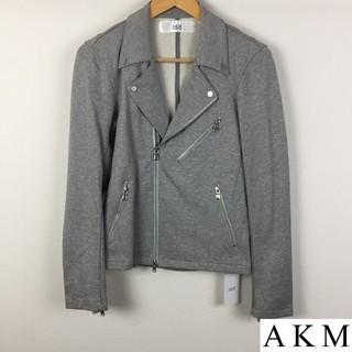 エイケイエム(AKM)の新品 AKM エイケイエム ライダースジャケット スウェット生地 グレー(ライダースジャケット)
