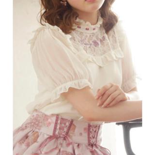 リズリサ(LIZ LISA)のLIZ LISA(リズリサ)グレープ刺繍トップス ラベンダー(カットソー(半袖/袖なし))
