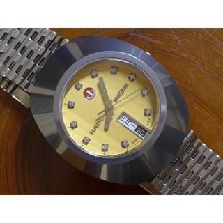 ラドー(RADO)の★RADO DIASTAR ケース超硬金・文字盤天然ダイヤ メンズ 自動巻(腕時計(アナログ))