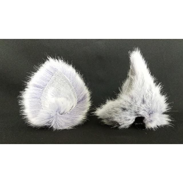 【 パステルパープルネコミミ 】ヘアピンねこみみ◆薄紫ねこ耳◆髪に着けられる猫耳 ハンドメイドのアクセサリー(ヘアアクセサリー)の商品写真