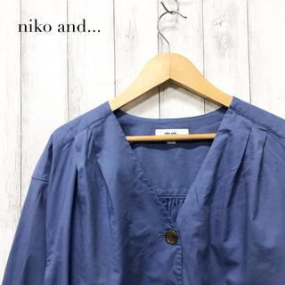 ニコアンド(niko and...)の【niko and...】ノーカラー ブラウス シャツ ニコアンド(シャツ/ブラウス(長袖/七分))