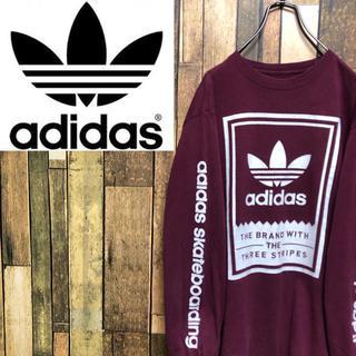 アディダス(adidas)の【レア】アディダスオリジナルス☆ボックスロゴ・サイドプリントロンT(Tシャツ/カットソー(七分/長袖))