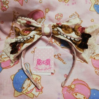 アンジェリックプリティー(Angelic Pretty)のスウィートクリームハウス 未使用カチューシャピンク(カチューシャ)
