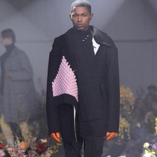 ラフシモンズ(RAF SIMONS)のRAF SIMONS knit vest ニット セーター ベスト ピンク (ニット/セーター)