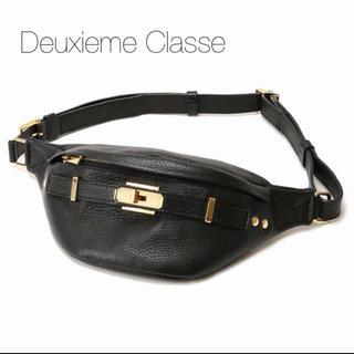 ドゥーズィエムクラス(DEUXIEME CLASSE)の新品同様⭐️SITA PARANTICA  シボカワウエストポーチ ブラック(ボディバッグ/ウエストポーチ)