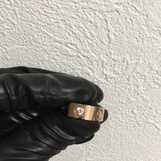 カルティエ(Cartier)のラブリング サージカルステンレス ピンクゴールド(リング(指輪))