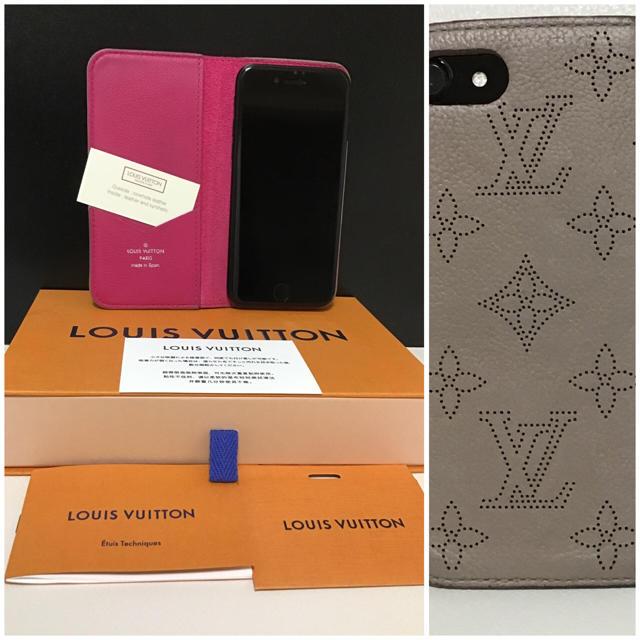 LOUIS VUITTON - ルイヴィトン iPhone7.8 フォリオ マヒナレザー ガレの通販