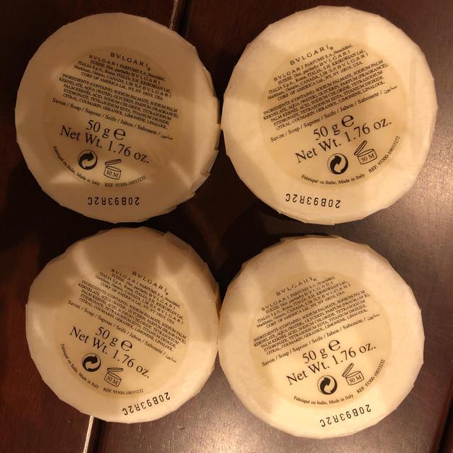 BVLGARI(ブルガリ)のブルガリ石鹸 4点 コスメ/美容のボディケア(ボディソープ / 石鹸)の商品写真