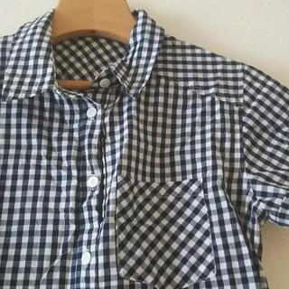 ムジルシリョウヒン(MUJI (無印良品))のリシェグラマー ギンガムチェックシャツ(シャツ/ブラウス(半袖/袖なし))