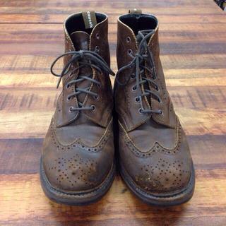 コーズ(CAUSE)のレザーブーツ 革靴 ブラウン(ブーツ)