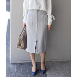 スピックアンドスパンノーブル(Spick and Span Noble)のNOBLE フープジップタイトスカート(ひざ丈スカート)