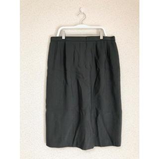 ★13号 毛100%スリット入りスカート★(ひざ丈スカート)