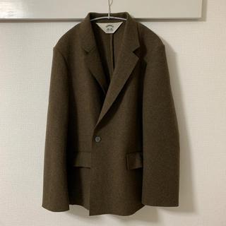 サンシー(SUNSEA)の美品 SUNSEA 13AW cut off melton jacket 2(テーラードジャケット)