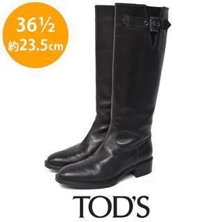 トッズ(TOD'S)のトッズ ロゴヒール ベルト ロングブーツ 36 1/2(約23.5cm)(ブーツ)