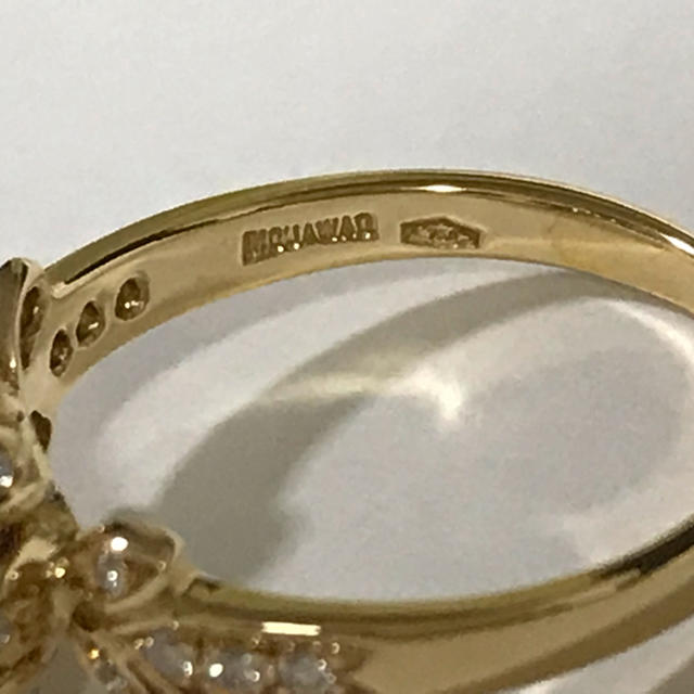 MOUAWAD モワード サファイア 750YG(18K)ダイヤリング レディースのアクセサリー(リング(指輪))の商品写真