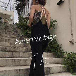アメリヴィンテージ(Ameri VINTAGE)のMEDI DADDY SUSPENDER PANTS 19AW 新品 ブラック(サロペット/オーバーオール)