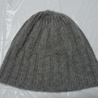 ユナイテッドアローズ(UNITED ARROWS)のカシミヤ100%日本製 美品★ユナイテッドアローズ東京ニット帽 薄灰★キャップ(ニット帽/ビーニー)