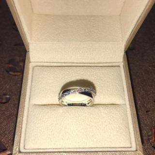 ポンテヴェキオ(PonteVecchio)の極美品✨ポンテヴェキオ K18WG ダイヤ 0.23ct リング 7号(リング(指輪))