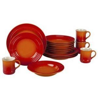 ルクルーゼ(LE CREUSET)のルクルーゼ 食器16点セット ディナーウエアセット オレンジ (食器)