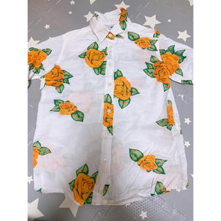 ロデオクラウンズワイドボウル(RODEO CROWNS WIDE BOWL)のRCWB|ロデオクラウンズ|オレンジ|花柄|シャツ|未使用(シャツ/ブラウス(長袖/七分))