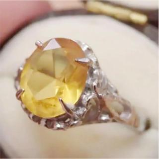 即購入OK♡V033ヴィンテージオレンジの昭和レトロ天然石リング指輪(リング(指輪))