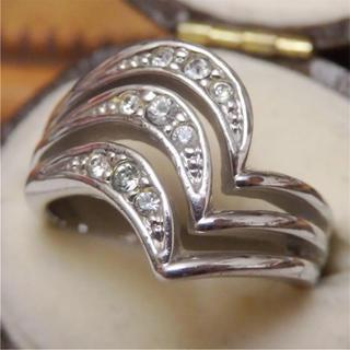 即購入OK♡V字デザインのようなシルバーカラーリング指輪ヴィンテージ(リング(指輪))