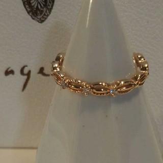 アガット(agete)のアガット K10 リング ドレスリング 5号 美品 ダイヤモンド(リング(指輪))