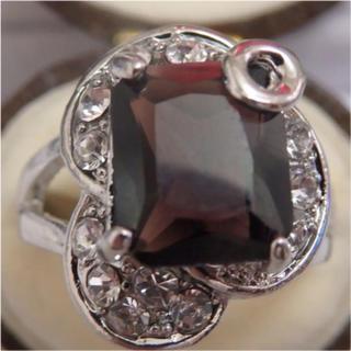 即購入OK*アメジストのようなシルバーカラーリングゴージャス指輪大きいサイズ(リング(指輪))