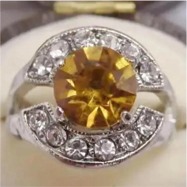 即購入OK*オレンジカラーのリング指輪大きいサイズ レディースのアクセサリー(リング(指輪))の商品写真