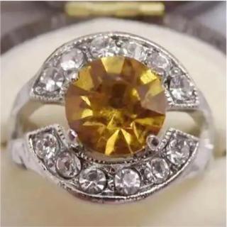 即購入OK*オレンジカラーのリング指輪大きいサイズ(リング(指輪))