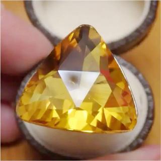 即購入OK*B品イエロー特大ストーンのゴージャスリング指輪大きいサイズ(リング(指輪))