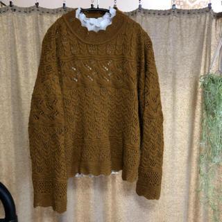 ローリーズファーム(LOWRYS FARM)の美品✨ざっくりゆったりニット スカラップ襟  (ニット/セーター)