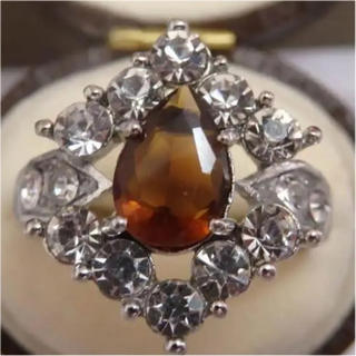 即購入OK*シトリンカラーのリング指輪大きいサイズ(リング(指輪))