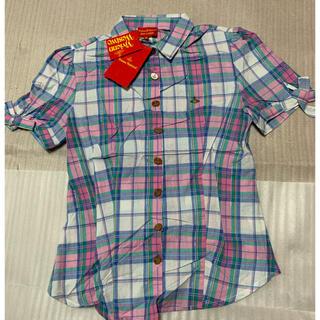 ヴィヴィアンウエストウッド(Vivienne Westwood)の42/Vivienne Westwood/レディースボタンダウンチェックシャツ(シャツ/ブラウス(半袖/袖なし))