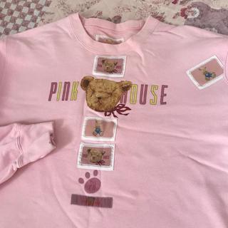 ピンクハウス(PINK HOUSE)のピンクハウス くま レトロ 熊 トレーナー テディベア あのちゃん (トレーナー/スウェット)
