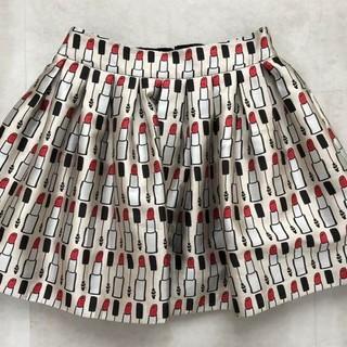 アリスアンドオリビア(Alice+Olivia)のアリスアンドオリビア リップ柄スカート(ミニスカート)