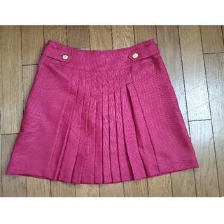 ジエンポリアム(THE EMPORIUM)のベリー色 プリーツスカート(ひざ丈スカート)