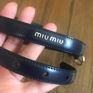 ミュウミュウ(miumiu)の【しゅーもん様専用】miumiuベルト(ベルト)