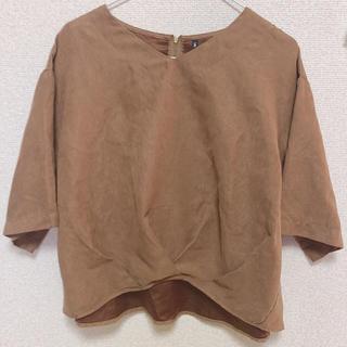 シマムラ(しまむら)の茶色トップス(カットソー(半袖/袖なし))