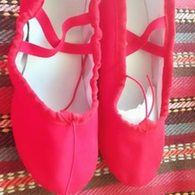 布製 バレエシューズ 大人用 ダンスシューズ レディース ヒール バレエ シュー レディースの靴/シューズ(バレエシューズ)の商品写真