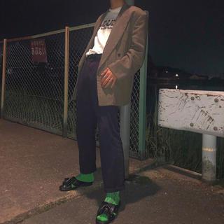 カルバンクライン(Calvin Klein)の古着 Calvin Klein ストレッチ ルーズストレートパンツ スラックス(スラックス)