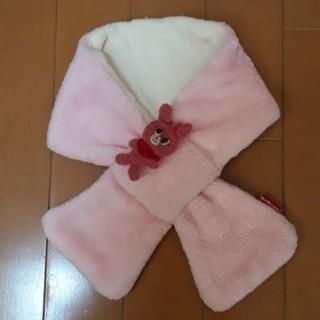 ミキハウス(mikihouse)の☆ミキハウス☆ホットビスケッツ リバーシブルマフラー ピンク うさぎ キッズ(マフラー/ストール)