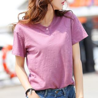【新品】レディースカットソーXL/韓国ファッション(Tシャツ(半袖/袖なし))