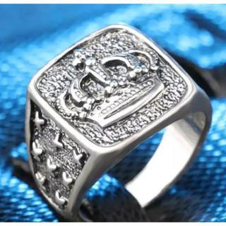 ✨定価4580円✨ クロムシルバービッグ メタルクラウン 王冠スタンプリング(リング(指輪))