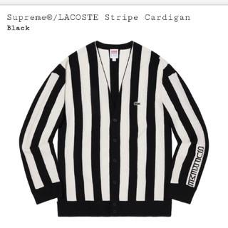 シュプリーム(Supreme)のSサイズ supreme LACOSTE stripe cardigan (カーディガン)