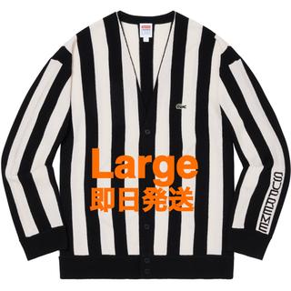 シュプリーム(Supreme)のSupreme®/LACOSTE Stripe Cardigan(カーディガン)