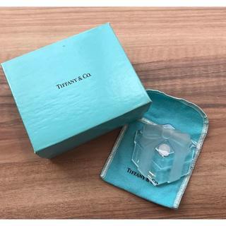 ティファニー(Tiffany & Co.)のティファニー プレゼントボックス ガラス ペーパーウェイト(93015052)(置物)